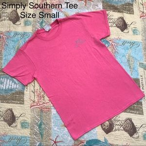 Simply Southern Pink Tee Shirt Pineapple Small